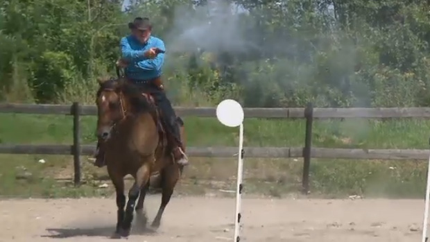 A town bylaw is preventing cowboy mounted shooting from coming to Pictou, N.S.