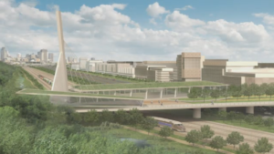 This artist's rendering shows what the proposed $38 million green overpass on the Turcot interchange would look like-- if construction commences. (CTV Montreal)