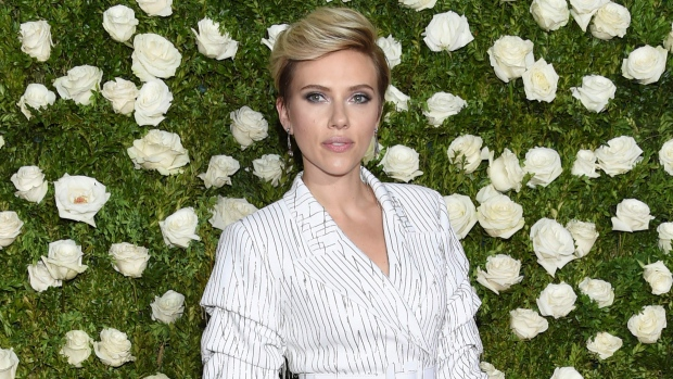 Scarlett Johansson arrives at the 71st annual Tony Awards at Radio City Music Hall in New York. (Photo by Evan Agostini / Invision / AP)