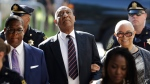 Bill Cosby arrives for his sexual assault trial with his wife Camille Cosby, right, at the Montgomery County Courthouse in Norristown, Pa. on Monday, June 12, 2017. (AP / Matt Rourke)