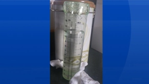 Elise Doucette lives in Wedgeport NS.  The thunderstorm didn't miss her rain gauge.  It looks like 108 mm to me