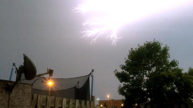 Lightning lights up northern night