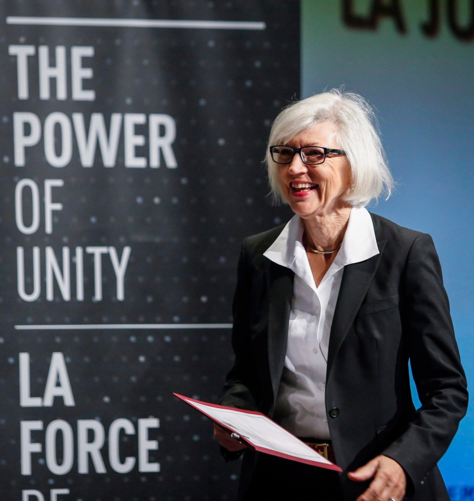 Chief Justice Beverley McLachlin addresses the Canadian Bar Association's 2015 legal conference in Calgary, Alta., Thursday, Aug. 13, 2015. (Jeff McIntosh / THE CANADIAN PRESS)