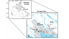 Map of Apex River
