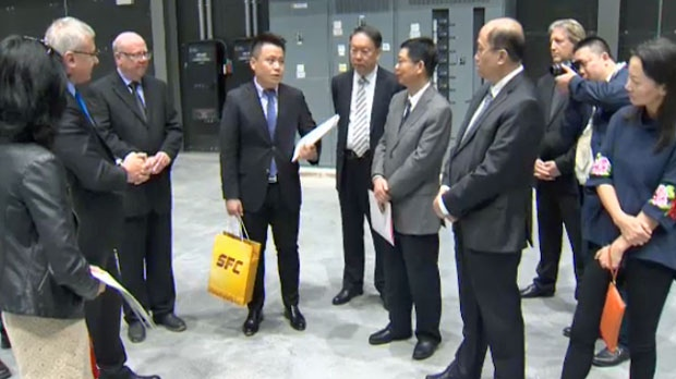 A Chinese delegation visits Calgary Film Centre in advance of signing a movie partnership