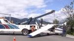 Damaged plane to be towed away