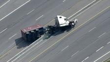 St. Catharines Tractor trailer crash