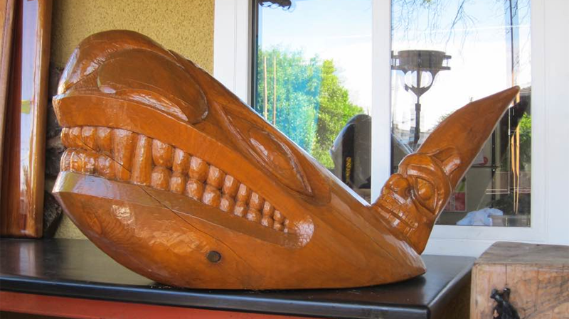 Burnaby, B.C. resident Harry Peters carved a wood orca in memory of his wife Laurie, who died of a stroke in 2006. Last Friday, he discovered it missing from his back porch. (Facebook)