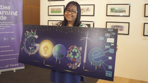 Jana Sofia Panem, a Grade 11 student from Toronto, took home top prize in Google's 'Doodle 4 Google' competition.