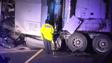 QEW Transport Truck crash