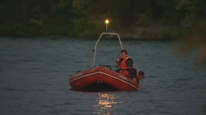 Halifax fire comb the waters of Penhorn Lake after a man went swimming but didn't resurface Tuesday evening.