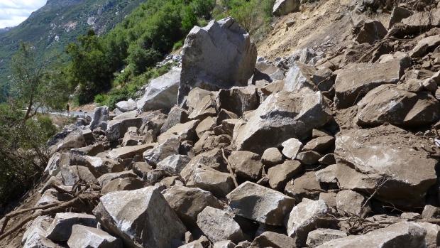 Yosemite rockslide