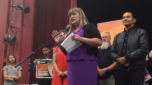 Bernadette Smith took the top spot in the Point Douglas byelection on Wednesday with 1,534 votes.