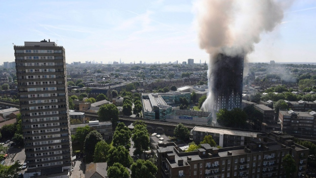 U S  maker of panels in London fire says others install them
