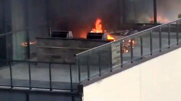 balcony fire downtown toronto