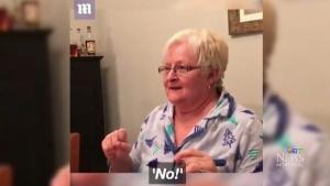 Screaming grandmother