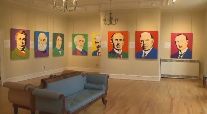 An art exhibit, known as 'Prime Time,' will be displayed at Government House in Fredericton until September.