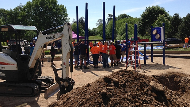 building a playground in the memory of a young boy