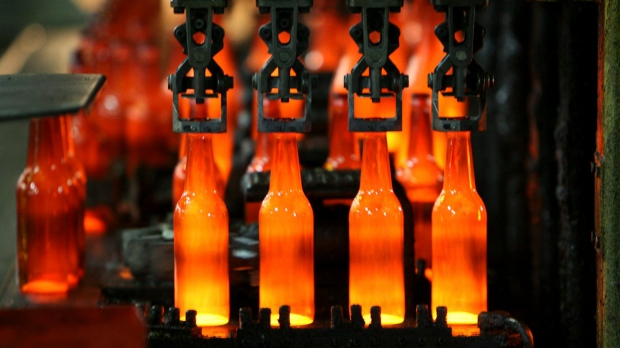 Glass bottle manufacturing plant