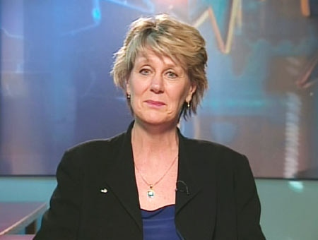 Mary Lou Donnelly of the Canadian Teachers' Federation speaks on Canada AM from CTV's studios in Halifax on Wednesday, April 1, 2009.