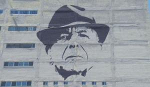 Leonard Cohen mural by Kevin Ledo