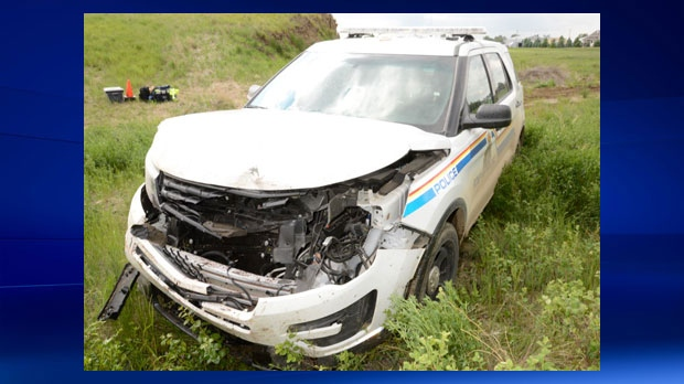 Raymond RCMP -damaged RCMP unit