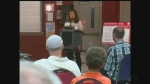 The first of nine meetings across Ontario on a possible hydro rate increase was held in Leamington, Ont, on Thursday, June 14, 2017. (Chris Campbell / CTV Windsor)