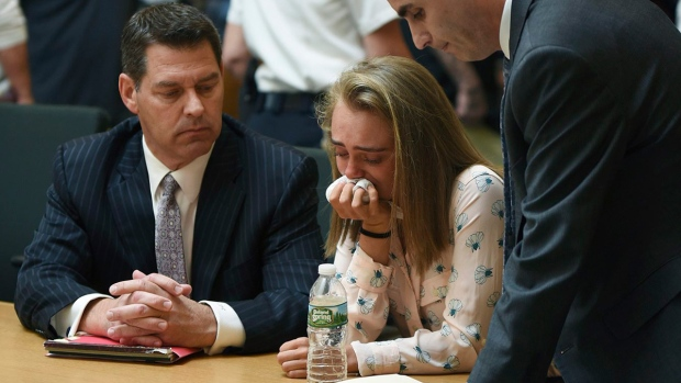 Michelle Carter after being found guilty of involuntary manslaughter in the suicide of Conrad Roy III, on June 16, 2017. (Glenn C.Silva / Fairhaven Neighborhood News)
