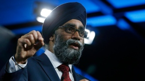 Defence Minister Harjit Sajjan speaks at the Canada 2020 conference in Ottawa, Friday June 16, 2017. (THE CANADIAN PRESS / Fred Chartrand)