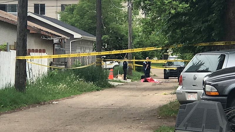 EPS on the scene of a stabbing in the area of 118 Ave. and 50 St. on Friday, June 16, 2017.