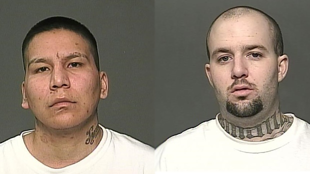 James Andrew Jewel is pictured here on the right, and Michael Taylor Fless is pictured on the left. (Source: Winnipeg police)