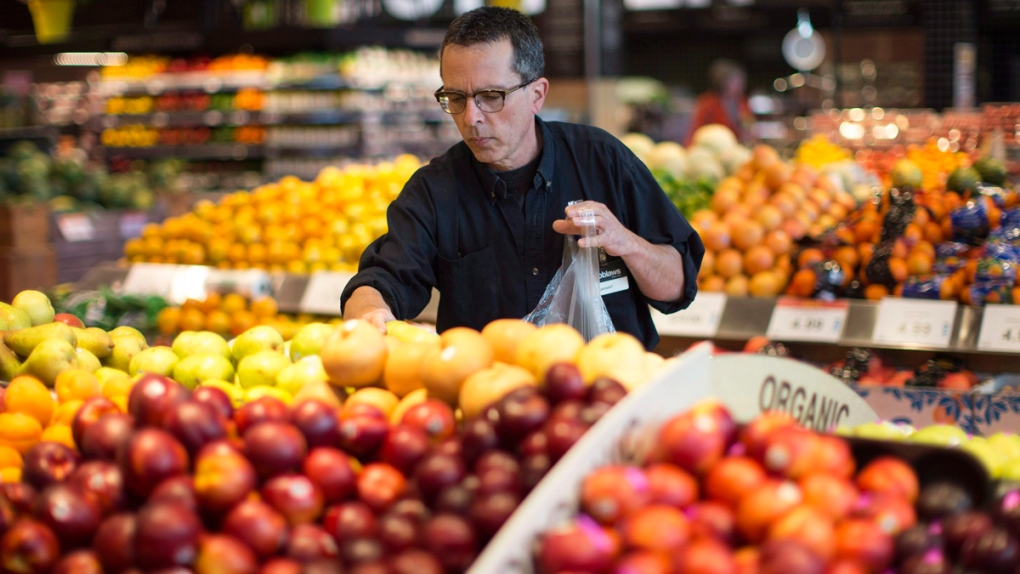 Gathering an order at a Loblaw's store