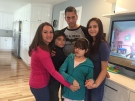 Michaela Kameka (centre), diagnosed with a rare genetic disease, is taking part in a clinical trial this summer in New York. (Sacha Long / CTV Windsor)