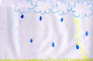 Weather art by Nathalie, age 9.