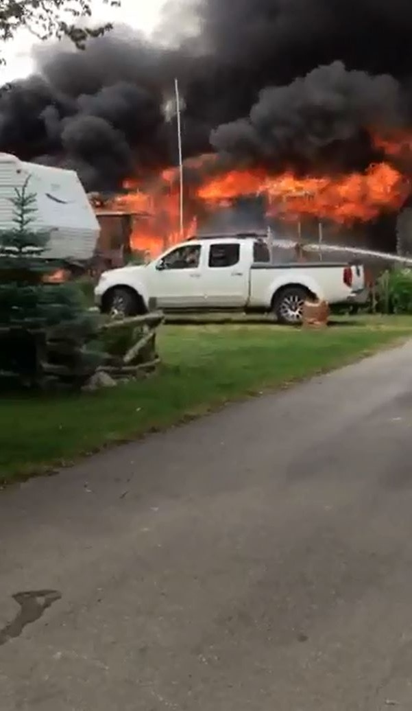 Fire at Paul Bunyan Lakeside Resort