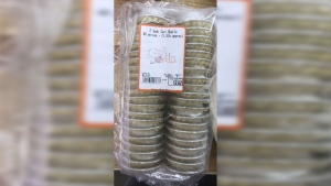 Recalled tart shells from Mildmay Cheese Haus are seen in this photo provided by the CFIA. (CFIA)