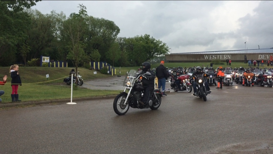 More than 300 motorcycle riders fired up their engines for the ninth annual Ride for Dad in Saskatoon on Saturday. (Mark Villani / CTV Saskatoon)