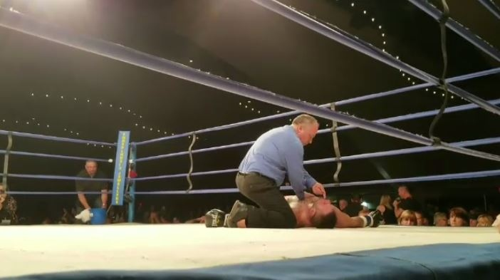 Tim Hague, 34, is in critical condition after being knocked out by Adam Braidwood at the Shaw Conference Centre on Friday, June 16, 2017.