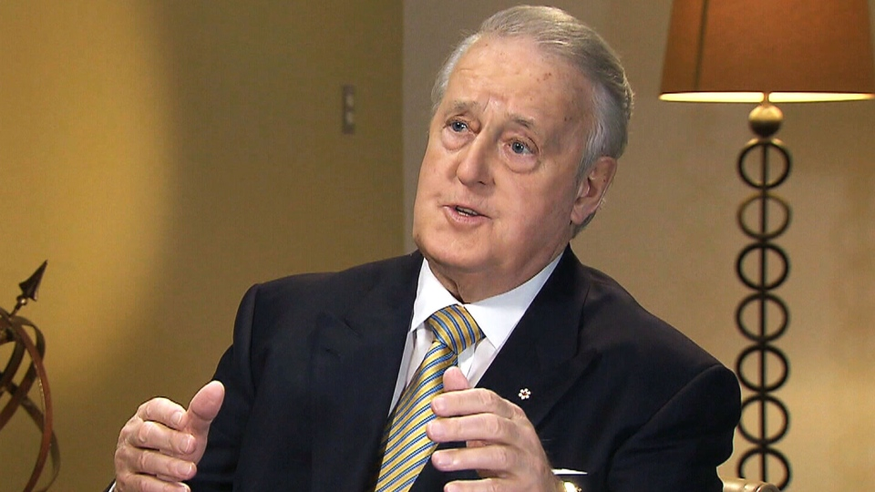 Former prime minister Brian Mulroney speaks with CTV's Question Period host Evan Solomon.