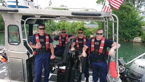 Members of Coast Guard Station St. Clair Shores