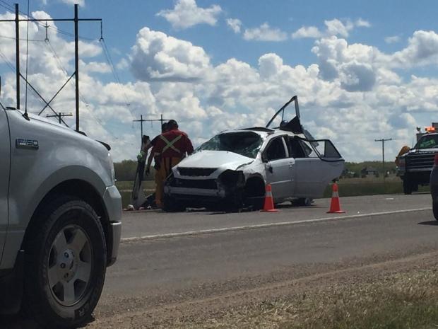 Collision south of Saskatoon