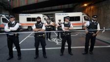 Police form cordon near Finsbury Park mosque