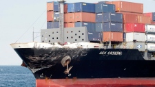 Damaged container ship ACX Crystal