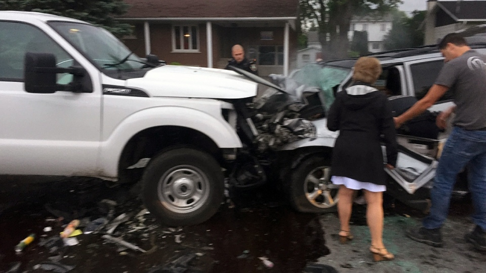 One person died in a head-on collision in L'Assomption early Monday June 19, 2017