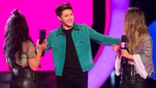 Niall Horan, centre, at the 2017 MMVAs
