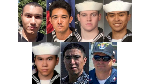 Soldiers who died on USS Fitzgerald