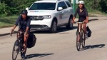 Saskatoon woman bikes home from University