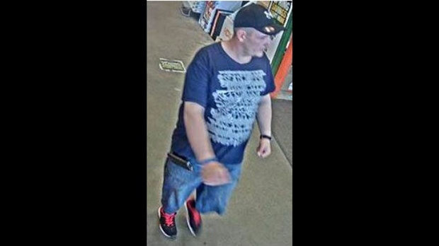 Police have released a security camera image of a man they believe played a role in a fraud scheme at Home Depot locations across the GTA. (Toronto police handout)