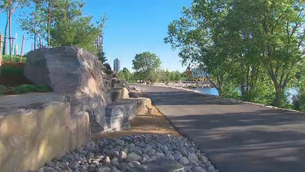 The new recreational trail that opened at Ontario Place is shown.