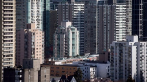 Condos and apartment buildings are seen in downtown Vancouver, B.C., on Feb.2, 2017. THE CANADIAN PRESS/Darryl Dyck
